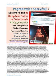 Pogrobowiec kaczynski a sprawa polska na tle epifanii putina w ostaszkowie pdo546 herody herodenspie