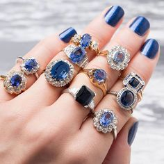 """Your sapphire engagement ring can be your """"something blue!"""" ~ we ❤ this! moncheribridals.com"""