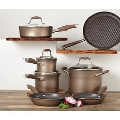 Shop for Anolon Advanced Bronze Collection Nonstick 11-piece Cookware Set. Get free delivery at Overstock.com - Your Online Kitchen & Dining Outlet Store! Get 5% in rewards with Club O! - 13845368