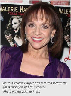 Valerie Harper's Latest Health Scare. Actress treated for a rare type of brain cancer.