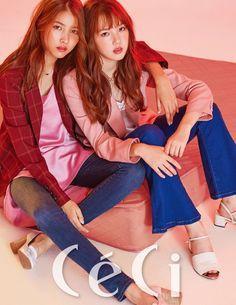 G-Friend are awash in pink hues for pretty 'CeCi' pictorial Kpop Girl Groups, Korean Girl Groups, Kpop Girls, Kimora Lee, Gfriend Sowon, G Friend, Poses, Korean Celebrities, South Korean Girls