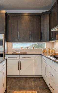 Dramatic hardware makes a crowning statement piece. Kitchen design ideas from Candlelight Homes, we build beautiful.