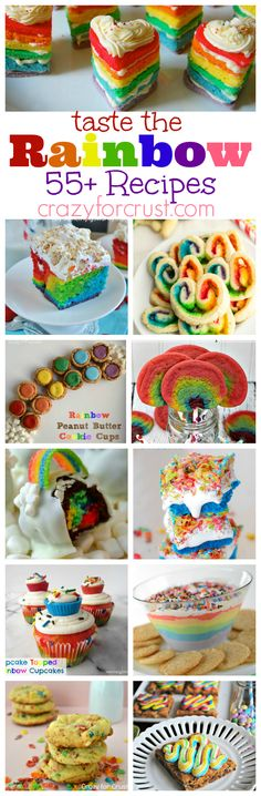 Over 55 Rainbow Recipes | crazyforcrust.com