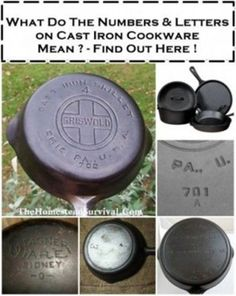 The Cast Iron Collector: Information for the Vintage Cookware Enthusiast. Learn how to identify, clean, restore, season and use collectible antique cast iron cookware. Cast Iron Care, Cast Iron Pot, Cast Iron Dutch Oven, Cast Iron Skillet Cooking, Iron Skillet Recipes, Cast Iron Recipes, Seasoning Cast Iron, Dutch Oven Cooking, Homestead Survival