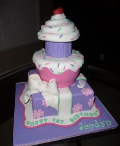 Birthday cake for a 1 year old girl Cakes Pinterest Birthday
