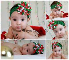 "3"" Christmas Candy Print and Stripe Korker Bow by ElegantCreationsByCC on Etsy, $5.99"