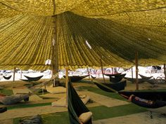Glade calls this Quonset hut, made with PVC pipes and tarp, a monkey hut. This is Automatic Subconscious camp, at Burning Man 2009. PVC Quonset huts are another... - Page 7