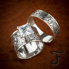 Browse a full inventory of western jewelry online. Discover handmade artisan jewelry, western rings, and one-of-a-kind items. Western Wedding Rings, Western Rings, Western Jewelry, Wedding Sets, Wedding Bands, Bridal Sets, Floral Wedding, Jewelry Rings, Fine Jewelry