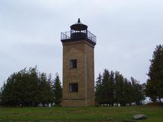 Peninsula Point Light Michigan  Lake Michigan