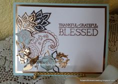 Paisleys and Posies by Nancy Hess, Soft Sky, Early Espresso,Copper Foil and Paisley and Posies