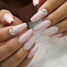 Nagelkunst # Nägel # Nägel # Design Fabulous Nails Best Picture For fall wedding nails acrylic For Your Taste You are looking for something, and it is going to tell you exactly what you are loo Pink Nails, Gel Nails, Coffin Nails, Glitter Nails, Nail Nail, Nail Polish, Sparkle Nails, Toenails, Nail Tech