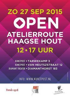 27 Sept - 4e Open Atelier route - Mariahoeve en omgeving - http://www.wijkmariahoeve.nl/27-sept-4e-open-atelier-route-mariahoeve-en-omgeving/ - Datum: 27 september 2015  Activiteit: 4e Open Atelier route  Tijd: 12.00 uur - 17.00 uur Informatie: kunstpost.nl MariahoeveToegang: Gratis Waar: KunstPost aan de Tarwekamp 3,  KunstPost aan de Van Heutszstraat 12 en in het Diamant Theater aan de Diamanthorst 183 KunstPost organiseert op zondag 27 september a.s. voor de vierde ke