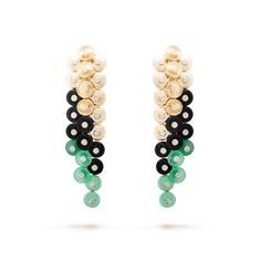 Bouton d'or earrings,Gold - Front View - VCARO77200 - Van Cleef & Arpels