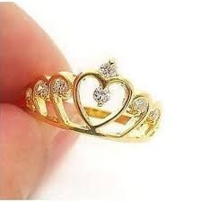 New Fashion Women Gold Filled Crystal Rhinestone Crown Ring Finger Gift Jewelry Cute Rings, Unique Rings, Cheap Rings, Diamond Wedding Rings, Diamond Rings, Diamond Crown, Gold Crown, Fashion Rings, Fashion Jewelry