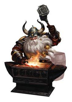 m Dwarf blacksmith anvil hammer