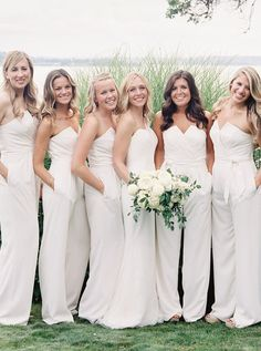 Prom Dress Beautiful, Strapless White Chiffon Long Bridesmaid Jumpsuit With Sash Pockets, Discover your dream prom dress. Our collection features affordable prom dresses, chiffon prom gowns, sexy formal gowns and more. Find your 2020 prom dress Cheap Prom Dresses, Simple Dresses, White Bridesmaid Dresses, Bridesmaids, Bridesmaid Jumpsuits, Plus Size Prom, White Chiffon, Popular Dresses, Wedding Party Dresses