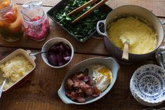 Choose your own grits toppings