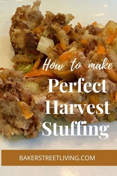 Make this old fashioned harvest stuffing with your roast turkey feast. It's an old family favorite and enjoyed by many. Get the recipe and instructions on our blog. Perfect Roast Turkey, Stuffing Mix, Poultry Seasoning, Roasted Turkey, Harvest, Thanksgiving, Beef, Stuffed Peppers, Traditional