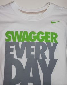 NIKE Men's Dri-Fit Swagger Every Day T-Shirt White Size XXL Swoosh #Nike #BasicTee