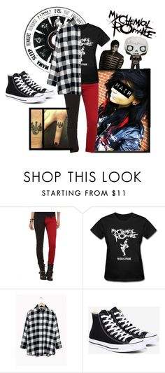 """MCR"" by potato-wentz ❤ liked on Polyvore featuring Tripp and Converse"