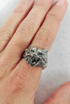 Wild Bear Ring - Grizzly - sterling silver - Free shipping by PappDesign on Etsy