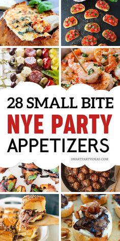 Here are 10 New Years Appetizers - that are both easy and delicious. Don't spend hours cooking when you can make these easy finger foods. This way you can do what's important : have fun and ring in the new year wth friends and family! New Year's Eve Appetizers, Appetizers For A Crowd, Appetizer Recipes, Appetizer Ideas, Appetizers For New Years, Christmas Cocktail Party Appetizers, Cheap Appetizers, Dinner Party Appetizers, Cocktail Party Food