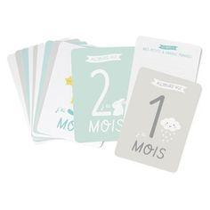 Image of New ! Kit premiers mois de bébé - Lot de 12 cartes