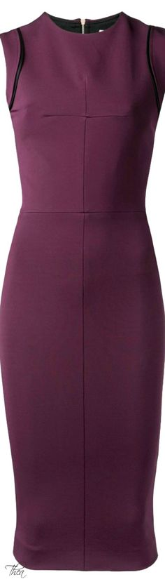 Victoria Beckham ● Aubergine fitted dress