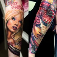 1000 images about realistische tattoo on pinterest tattoos and body art barbie tattoo and tat. Black Bedroom Furniture Sets. Home Design Ideas
