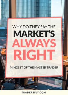 Are you wondering why they say the market is always right? Find out here! #tradingtips Stock Market Basics, Dividend Stocks, Stock Charts, Investing In Stocks, Risk Management, Educational Videos, Free Training, Make More Money, Mindset