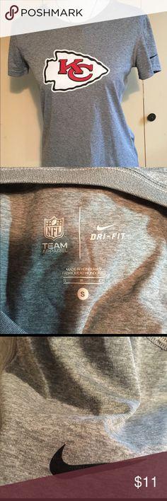 Nike KC Chiefs Dri-Fit ladies size S tee shirt Nike Brand KC Chiefs Dri-Fit ladies size Small short sleeved t shirt - perfect Nike NFL Team Apparel Tops Tees - Short Sleeve