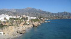 Vista desde el balcon de Europa, Nerja, Malaga