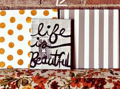 DIY canvas wall art #newspaperandsharpie