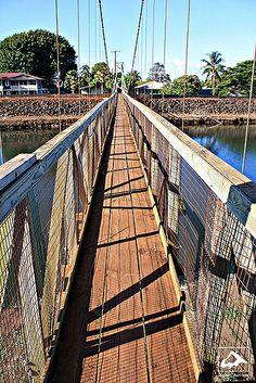 Hanapepe Swinging Bridge - Kauai, Hawaii