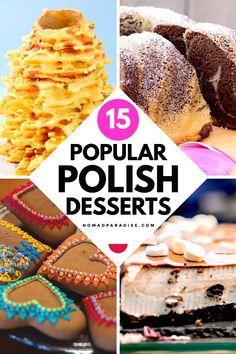 Polish Desserts, Polish Recipes, Healthy Desserts, Just Desserts, International Food Day, Tree Cakes, Sweets Cake, World Recipes, Sweet Recipes