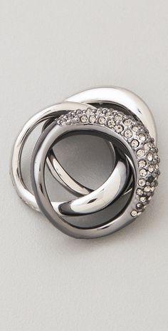Michael Kors Safari Glam Black Diamond Stacking Rings