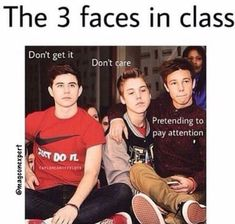 Memes – Which are you? Memes Which are you? – School Funny – School Funny meme – – Comment which of the three faces you are The post Memes Which are you? appeared first on Gag Dad. Funny School Memes, School Humor, Stupid Funny Memes, Funny Relatable Memes, Funny Posts, Funny Quotes, Magcon Quotes, Middle School Memes, Funny Yearbook