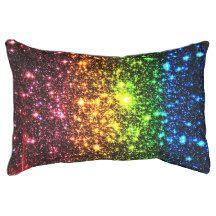 Rainbow Galaxy Dog Bed