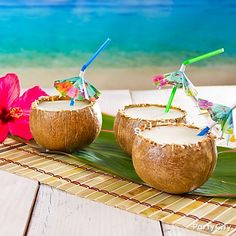 It's not a luau until you break out the Pina Coladas! Click for the recipe!