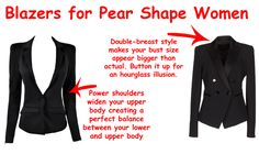 Style High Street: Building Wardrobe for the Pear Shape Body (I have a love/hate relationship with blazers. Pear Shaped Dresses, Pear Shaped Outfits, Pear Shape Fashion, Triangle Body Shape, Pear Shaped Women, Pear Body, Body Shapes, Pear Shapes, Up Girl