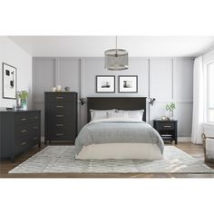 Queen Springwood Headboard Black – Room & Joy - Mine Minecraft World Home Design, Interior Design, Room Interior, Design Ideas, Big Design, Design Color, Design Styles, Design Concepts, Modern Interior