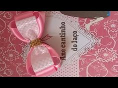 Laço boutique com dois laços embutidos - YouTube Ribbon Hair Bows, Diy Hair Bows, Diy Bow, Diy Ribbon, Fabric Bows, Fabric Flowers, Make Baby Headbands, Bow Template, Hair Bow Tutorial