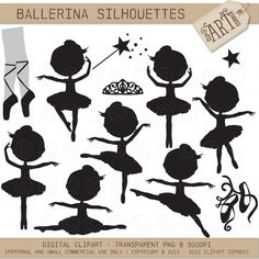 Little Ballerina in black - Luvly Marketplace | Premium Design Resources #clipart #girl #vector #princess #mermaid #ballerina #fairy