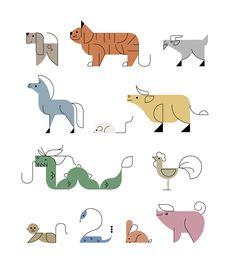 Chinese Horoscope on Behance