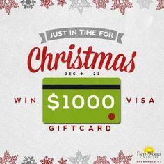 $1000 Visa Gift Card Giveaway