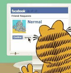 Garfield meets Facebook!