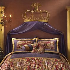Bed Crown with 2 Tie Backs