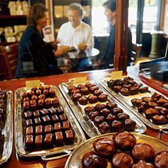 Fran's Chocolates - Seattle, WA:  Renowned locally for its European-style artisanal chocolates, it's even on the national radar for creating the salt caramels favored by President Obama. The salt caramels are heavenly!!