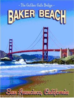Baker-Beach-San-Francisco-California-United-States-Travel-Advertisement-Poster