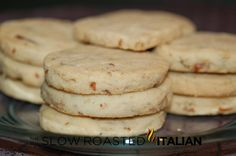 Pecan Shortbread Cookies... these are dangerously good, the dough has no eggs and is too easy to eat on its own!